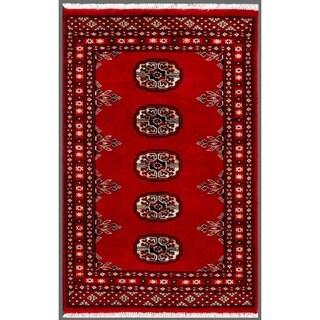 Herat Oriental Pakistani Hand-knotted Bokhara Wool Rug (1'11 x 3')