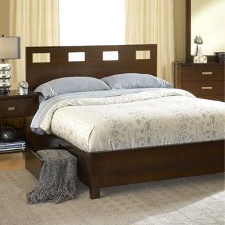 Rectangular Cutout 4-drawer Chocolate Brown Storage Bed