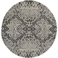 Safavieh Handmade Wyndham Grey New Zealand Wool Rug (7' Round)