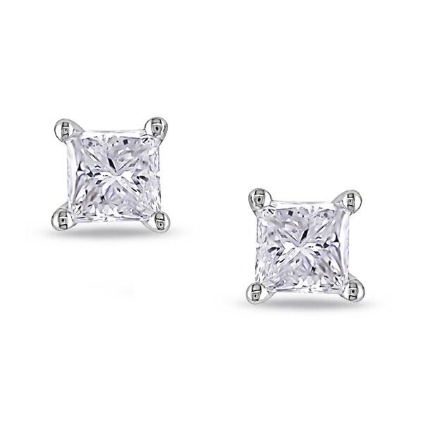 Miadora 18k White Gold 1ct TDW Diamond Stud Earrings (G-H, VS1-VS2)