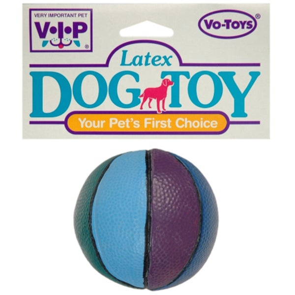 Vo Toys Latex Multicolor 3-inch Squeaker Basketball