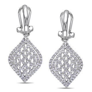 Miadora Signature Collection 14k White Gold 4/5ct TDW Diamond Earrings (G-H, I1-I2)