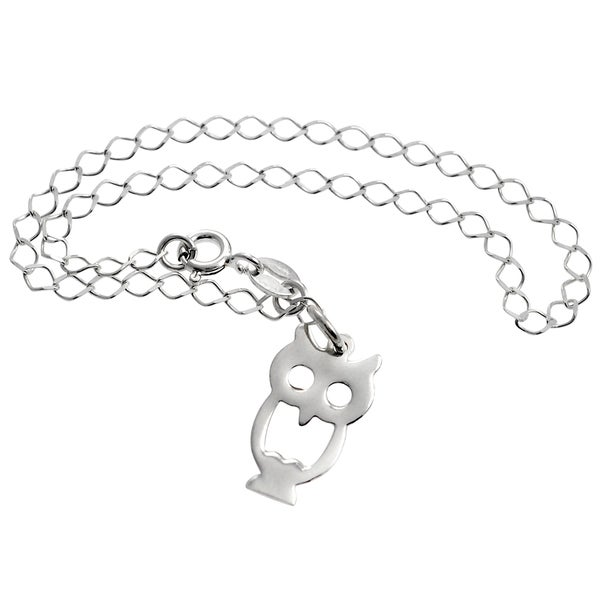 Journee Collection Sterling Silver Owl Bracelet