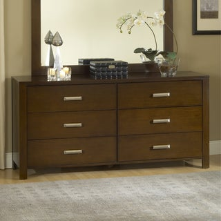 Modern Chocolate Brown 6-drawer Dresser