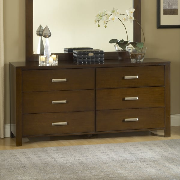 Modern Chocolate Brown 6 drawer Dresser. Modern Chocolate Brown 6 drawer Dresser   Free Shipping Today