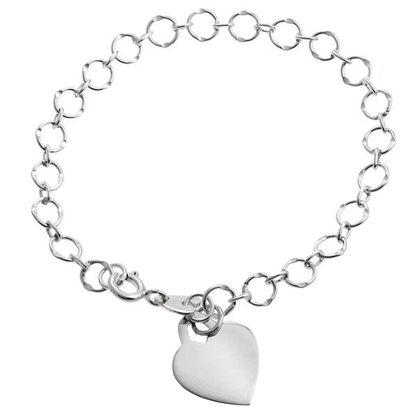 Journee Collection Sterling Silver Heart Bracelet