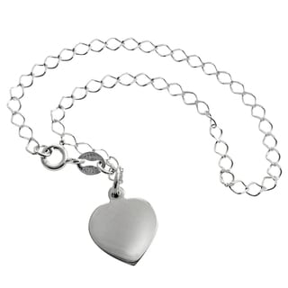 Journee Collection Sterling Silver Heart Bracelet