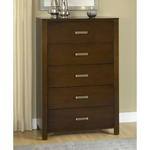 Modern Chocolate Brown 5-drawer Chest