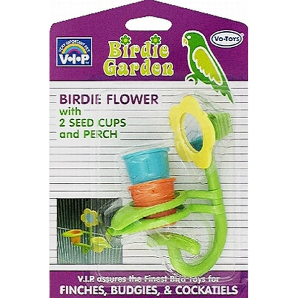 Vo Toys Birdie Garden Toy Mirror and Seed Cups