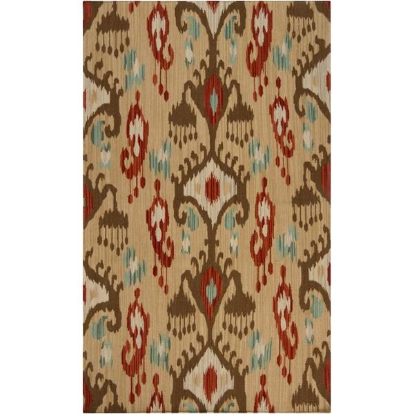 Hand-woven Lethbridge Beige Wool Area Rug (9' x 13')