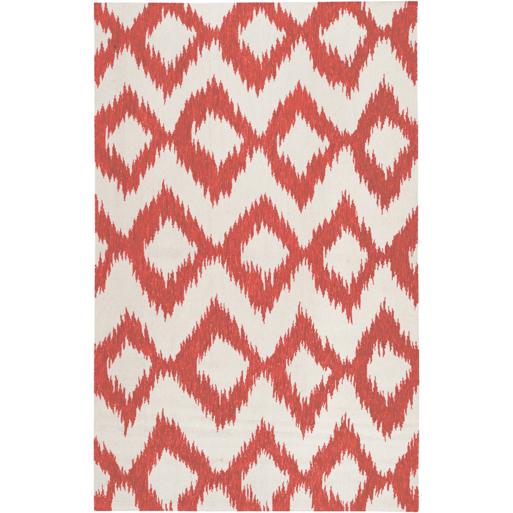 Hand-woven Quesnel Red Wool Rug (2' x 3') (As Is Item)