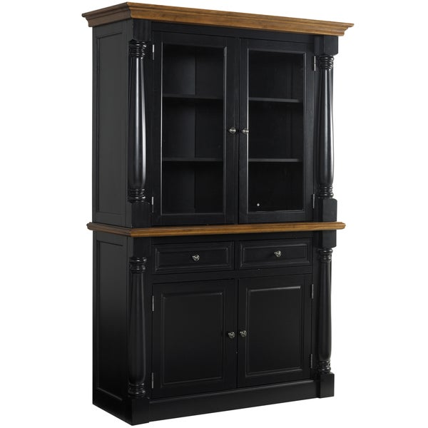 Monarch Black Buffet and Hutch by Home Styles