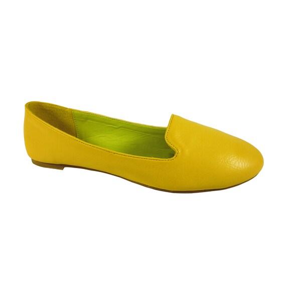 Betani by Beston Yellow Women's Smoking Flats