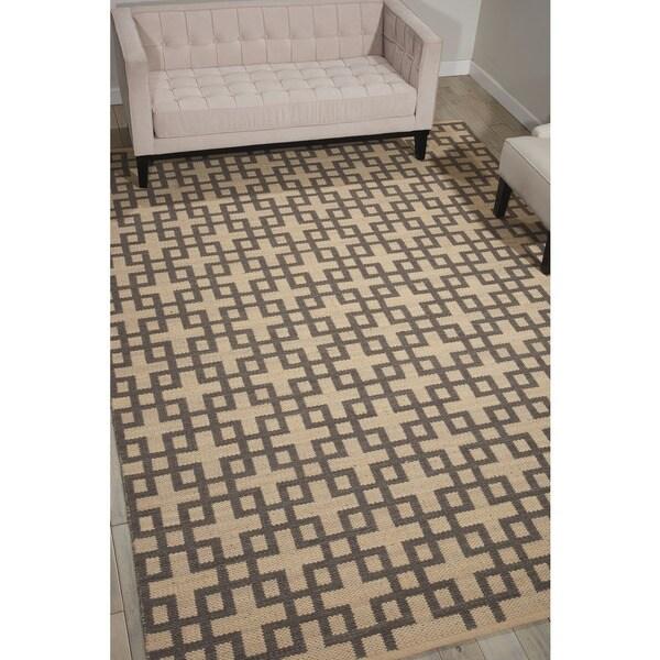 Barclay Butera Maze Dove Area Rug by Nourison - 5'3 x 7'5