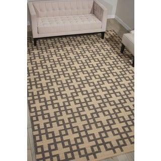 Barclay Butera Maze Dove Area Rug by Nourison (5'3 x 7'5)
