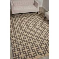 Barclay Butera Maze Dove Area Rug by Nourison - 5'3 x 7'5