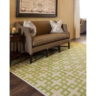 Barclay Butera Maze Moss Area Rug by Nourison (5'3 x 7'5)