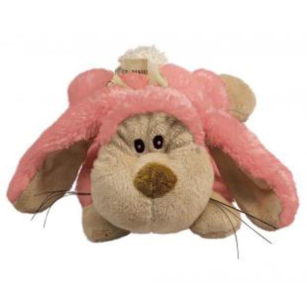 KONG Plush Pink Cozie Floppy Bunny Dog Toy