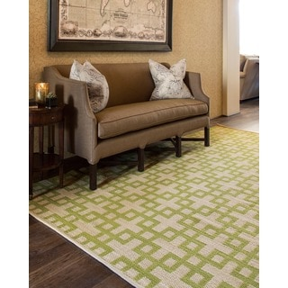Barclay Butera Maze Moss Area Rug by Nourison (7'9 x 10'10)