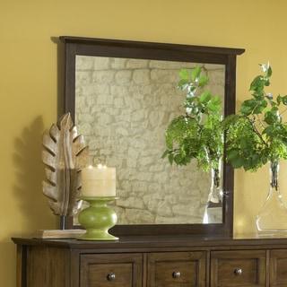 Modern Shaker Truffle Solid Mahogany Framed Mirror