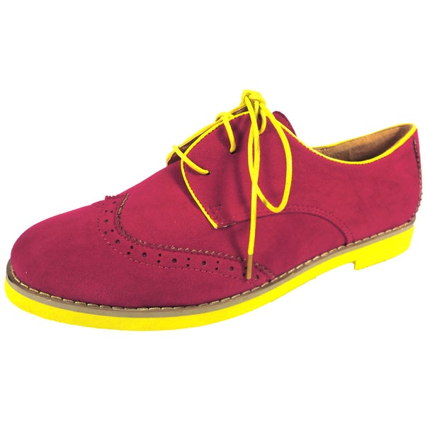 Betani by Beston Women's 'Patty' Fuchsia Oxford Shoes