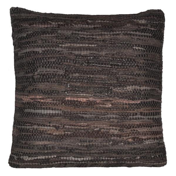 Brown Leather Matador 18x18-inch Pillow