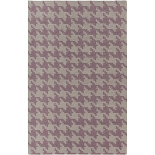Hand-woven Airdrie Grey Wool Rug (9' x 13')