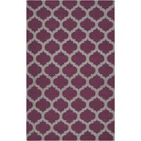 Hand-woven Castlegar Purple Wool Area Rug (9' x 13') - 9' x 13'