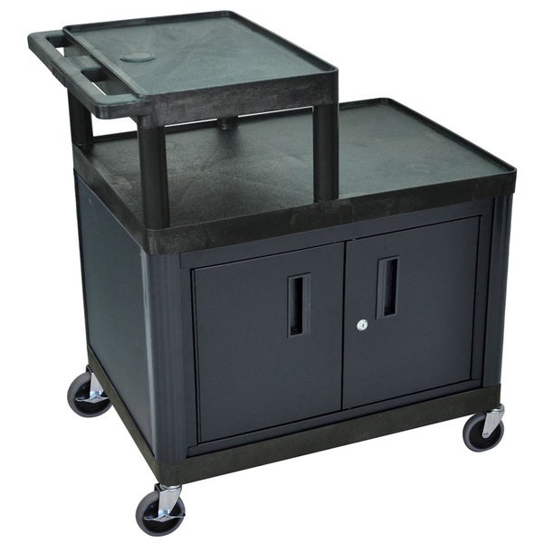 Luxor Mobile Workstation Projector Cart Free Shipping