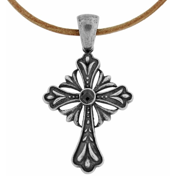 Stainless Steel Men's Antique Cross Necklace
