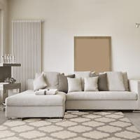 Hand-woven Duncan Ivory Wool Area Rug - 9' x 13'