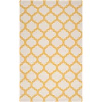 Hand-woven Fernie Yellow Wool Area Rug - 9' x 13'