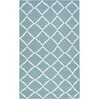 Hand-woven Thompson Green Wool Area Rug - 3'6 x 5'6