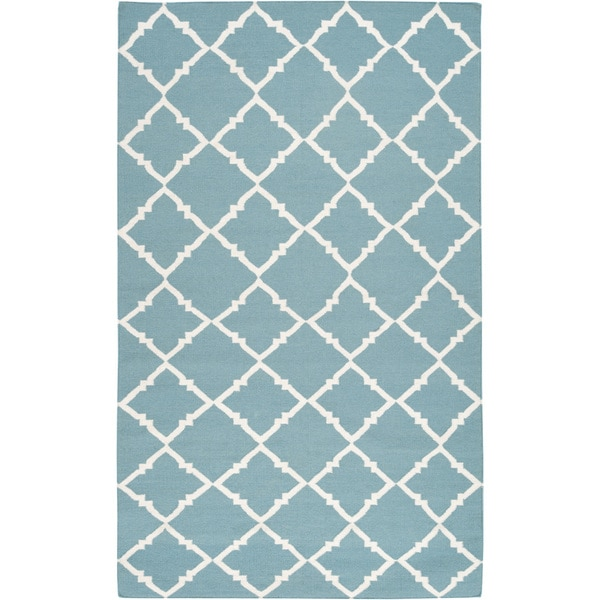 Hand-woven Thompson Green Wool Area Rug - 8' X 11'