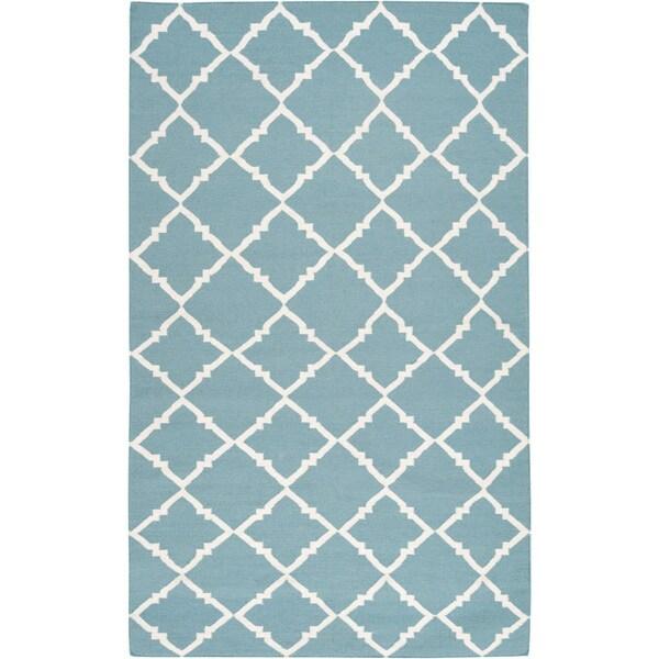 Hand-woven Thompson Green Wool Area Rug - 8' x 11'