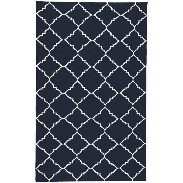 Hand-woven Winkler Blue Wool Area Rug - 8' x 11'