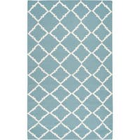 Hand-woven Thompson Green Wool Area Rug - 2' x 3'