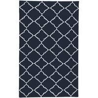 Hand-woven Winkler Blue Wool Area Rug - 2' x 3'