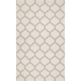 Handwoven Cranbrook Ivory Wool Rug (2' x 3')