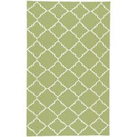 Hand-woven Winnipeg Green Wool Area Rug - 2' x 3'