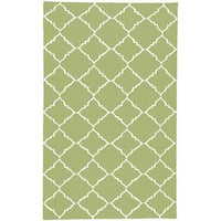 Hand-woven Winnipeg Green Wool Area Rug - 9' x 13'