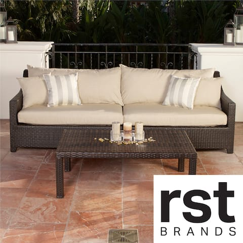 RST Slate Sofa and Coffee Table Set Patio Furniture