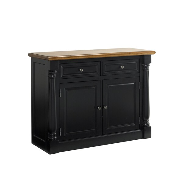 Home Styles Monarch Oak/Black Buffet