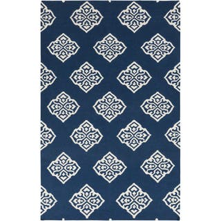 Flatweave Tribeca Turquoise Geo Wool Rug 5 X 8 Free