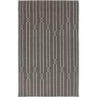 Hand-woven Lelystad Grey Wool Area Rug - 8' x 11'