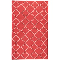 Hand-woven Bolsward Red Wool Area Rug - 9' x 13'