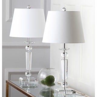 Safavieh Lighting Imogene Silvertone/White Crystal 23 Inch Table Lamp (Set  Of 2