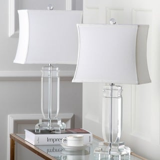 "Safavieh Lighting 25-inch Olympia Crystal Table Lamp (Set of 2) - 12"" x 8"" x 24"""