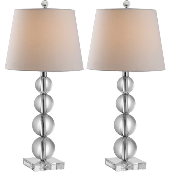 Safavieh lighting 265 inch millie crystal table lamp set for 6 inch table lamp