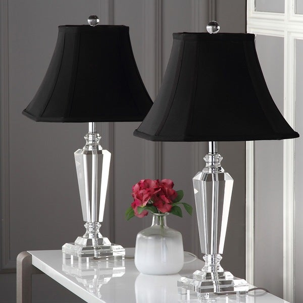 """Safavieh Lighting 25-inch Lilly Crystal Table Lamp (Set of 2) - 13""""x13""""x24.5"""""""